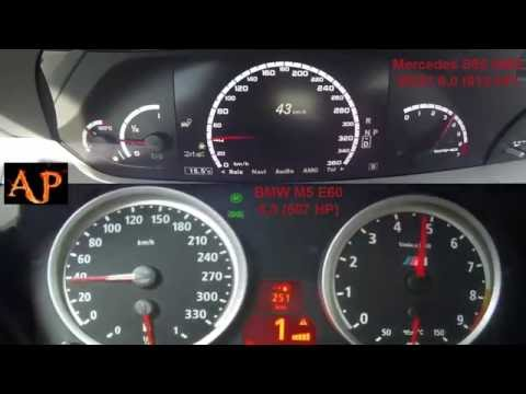 ☛BMW M5 E60 5.0 (507 HP) Vs. Mercedes S65 AMG W221 6.0 (612 HP) Review, Sound, Acceleration 0-255