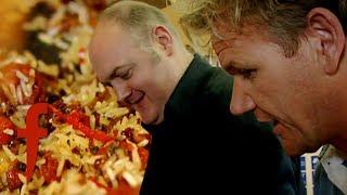 Gordon Ramsay Helps Dara Ó Briain To Cook Tiger Prawn Pilaf