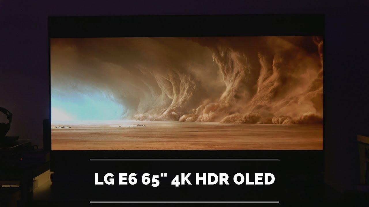 lg e6 65 4k hdr oled review youtube
