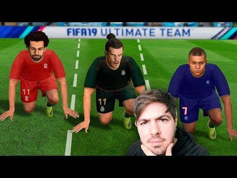 QUEM É O MAIS RAPIDO DO FIFA 19 SEM A BOLA?!?! TESTE DE CORRIDA NO FIFA!!! thumbnail