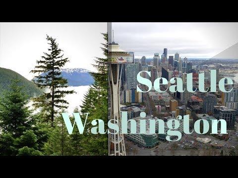Seattle Washington in 4k Drone Footage