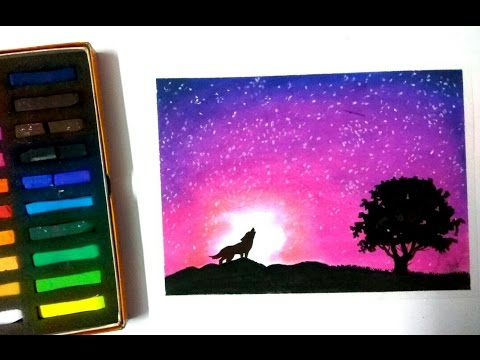Timelapse Drawing A Night Sky With Soft Pastels Youtube