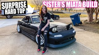 Bodykit Install  & SURPRISE OEM HARD TOP! - Little Sister's Miata Build Pt. 10