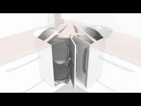 Ninka Eckschrank 3D Animation - YouTube | {Kücheneckschrank 80x80 24}