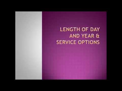 Length of Day and Year, and Service Options