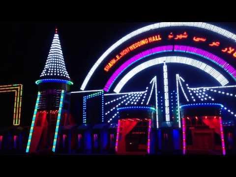 The  lights of Kabul wedding halls