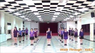 Because I Love You (by Tracy H. & Jennifer C.) - line dance (walk through) = 因為我愛你  排舞(導跳)