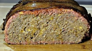 Smokingpit.com - Bacon Cheeseburger Meatloaf Recipe Slow Cooked On A Yoder Ys640 Pellet Grill