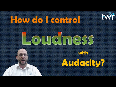 How to do Loudness with Audacity for free