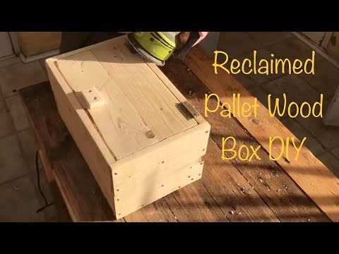 DIY Pallet wood box/chest - Easy Pallet wood project