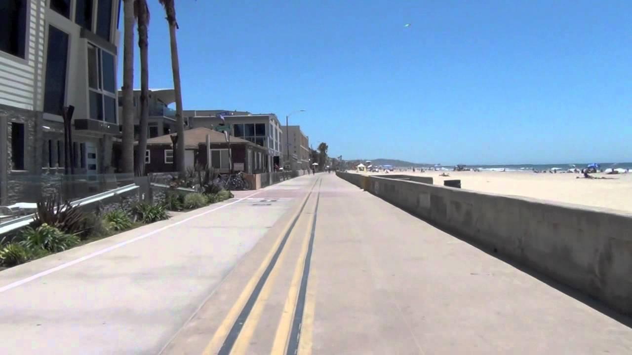Pacific Beach / Mission Beach boardwalk, San Diego, Ca HD ...
