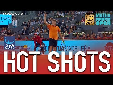 Goffin Stunning Backhand Hot Shot At Madrid 2017