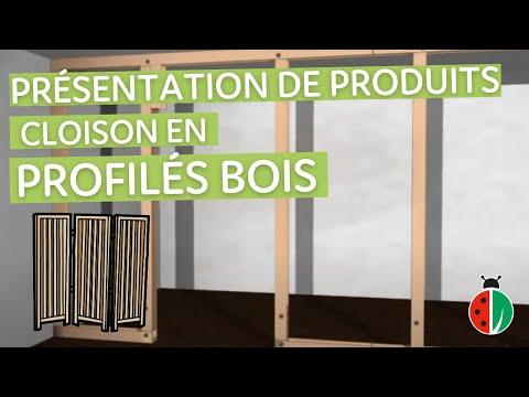 Demo De Construction D Une Cloison En Profiles Bois Youtube