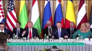 Donald Trump invitat de Klaus Iohannis în România