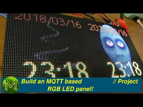 Build an MQTT based RGB LED panel! // Project