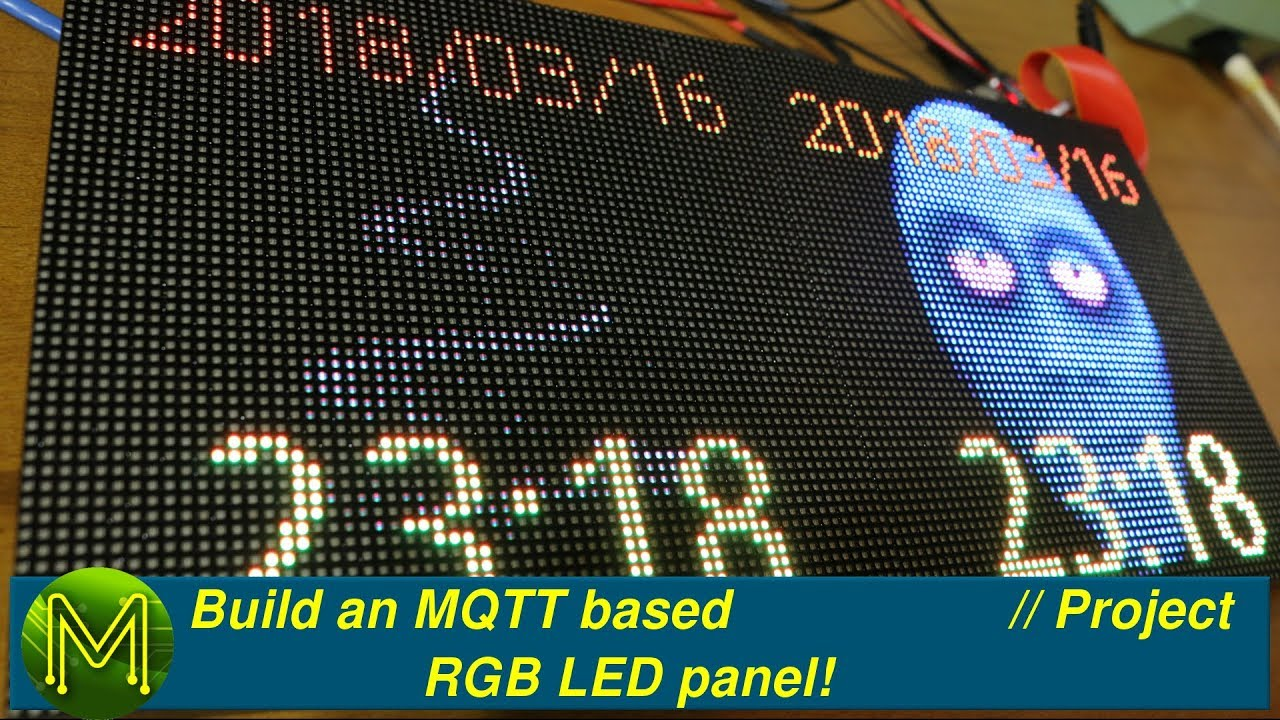 200 Build An Mqtt Based Rgb Led Panel Project Youtube