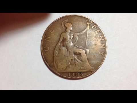"""1906 Great Britain One Penny """"Edward VII"""""""