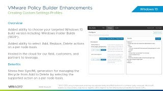VMware Policy Builder Enhancements Feature Walk-Through