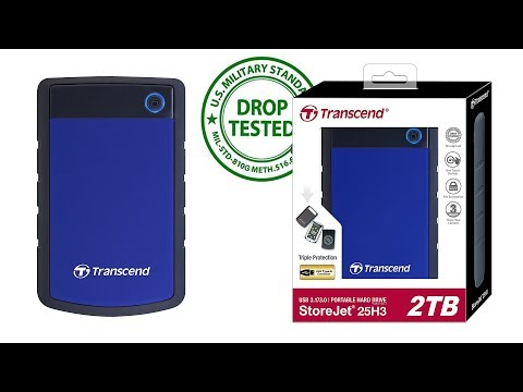 Trancend 2TB Portable Hard Drive Unboxing and Review