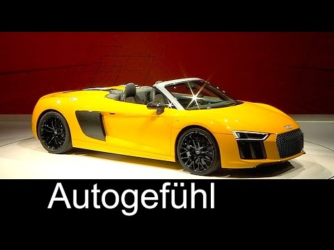 All-new Audi R8 Spyder Premiere presentation at New York Auto Show