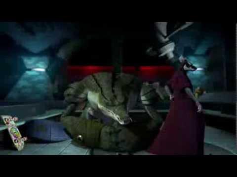 Mestre Splinter vs Cabeça de Couro  TMNT 2012