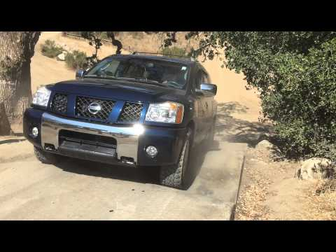Nissan Armada off roading at hollister hills stairs part 3