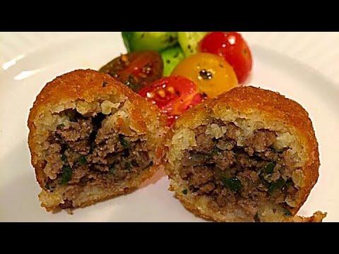 Burgul Potato Kubba كبة البرغل والبطاطا بحشوتين اللحم والخضره