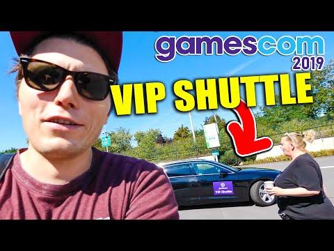 Ich darf mit dem VIP Auto der GAMESCOM fahren!