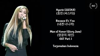 Download Mp3 Hyorin - Because It's You  Man Of Honor Ost   Lyrics Indo Sub