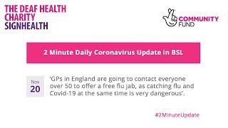 Coronavirus 2 Minute Update - 20th November 2020