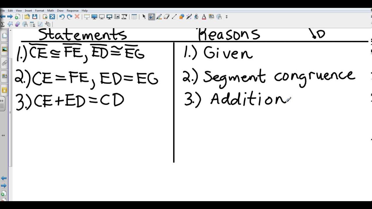 Geometry 2 7 Proving Segment Relationships