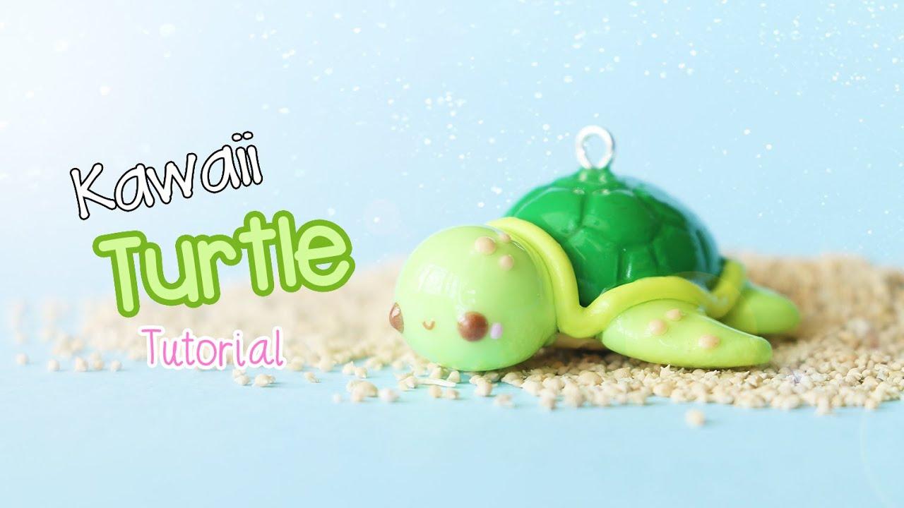Kawaii Sea Turtle Polymer Clay Tutorial Youtube