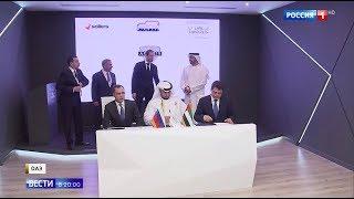Президентский лимузин AURUS стал сенсацией на выставке в ОАЭ