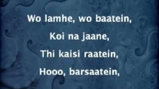 Woh lamhe lyrics