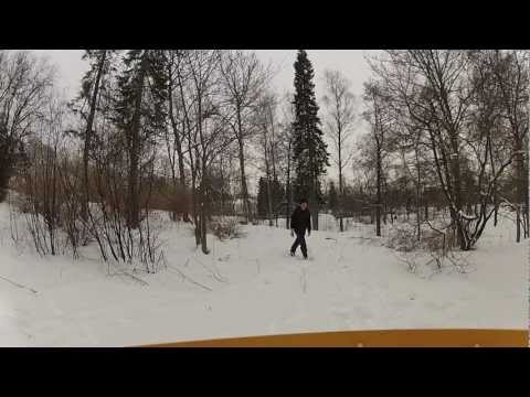 Winter Disc Golf in Turku Urheilupuisto