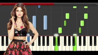 Cashmere Cat Selena Gomez Trust Nobody piano midi tutorial sheet app karaoke cover