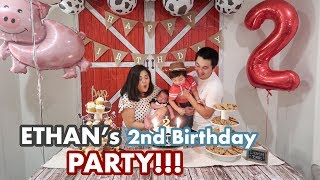 Vlog #255 | ETHAN'S 2nd BIRTHDAY PARTY!!!🎂🎁 (& after party karaoke)