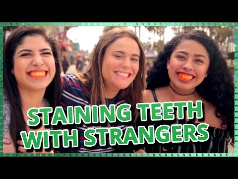 Strangers Staining Teeth Challenge   Do It For The Dough w Ayydubs and Hunter March