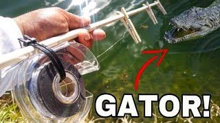 DIY FISHING Rod and Reel Challenge Using Household Supplies!