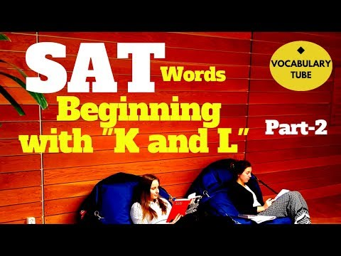 SAT Words Beginning with