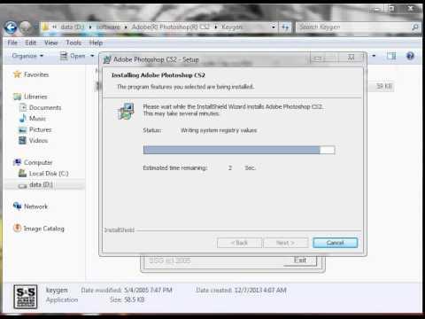 Cara install Adobe Photoshop CS2