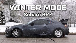 BRZ IN WINTER MODE! (New Wheels and Tires)