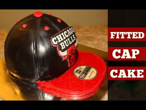 Chicago Bulls Fitted Cap Cake