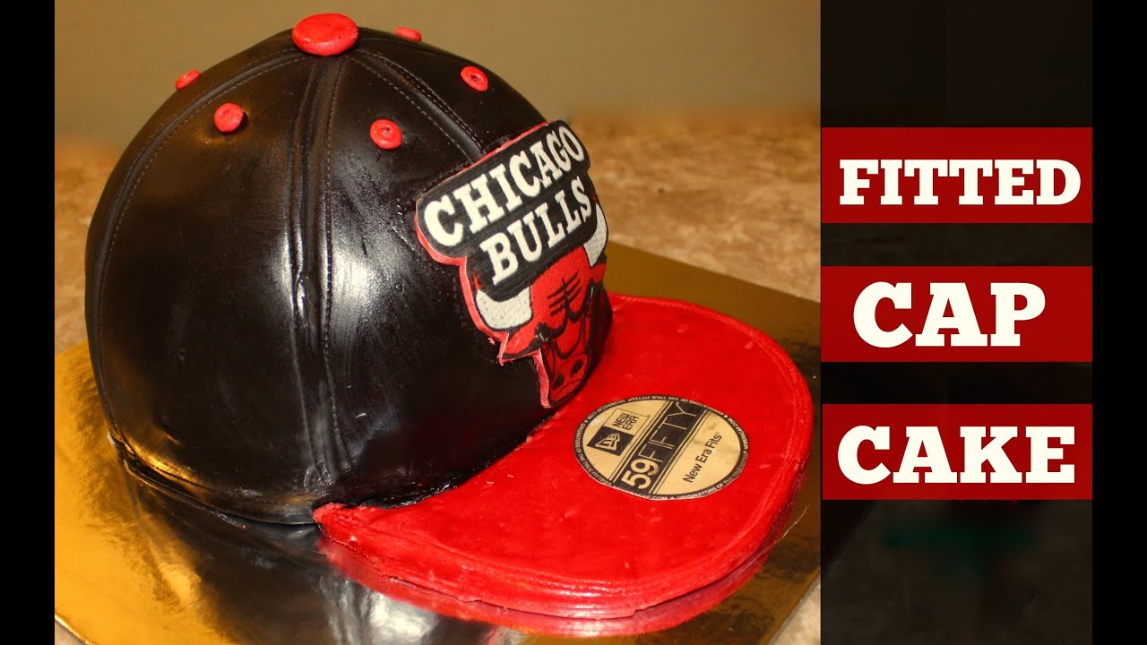 a44529b3672 Chicago Bulls Fitted Cap Cake - YouTube