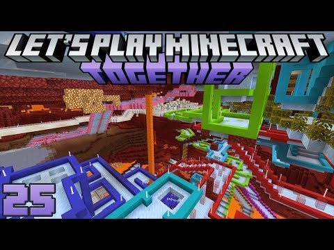 Let's Play Minecraft Together 25 Amazing Ice Boat Racing Arena!