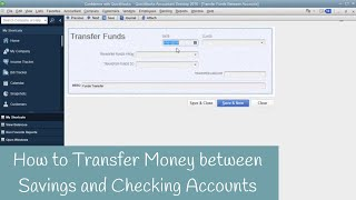 How to transfer money between Checking and Saving inside QuickBooks