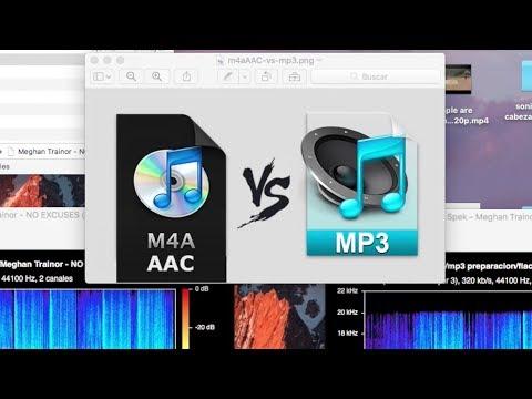 Audio M4A vs Mp3 - Crear M4A de Calidad