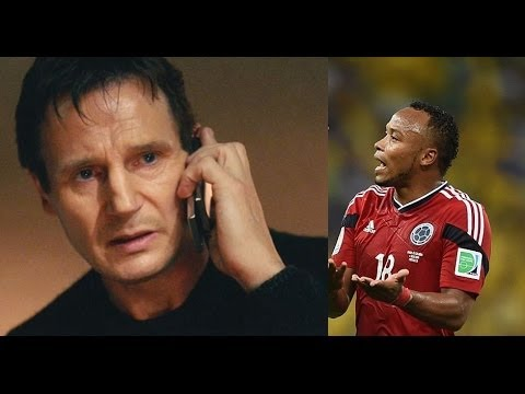 Brazil fans attack Juan Zuniga for his tackle on Neymar - Taken Phone Speech Version