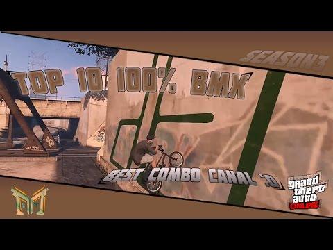 GTA V - Top 10 100% BMX : Best Combo Canal :O
