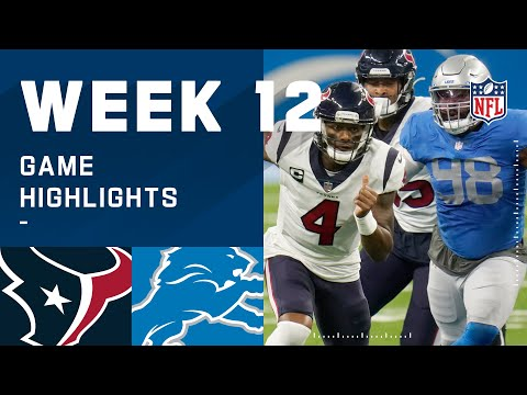 Texans vs. Lions Week 12 Highlights | NFL 2020